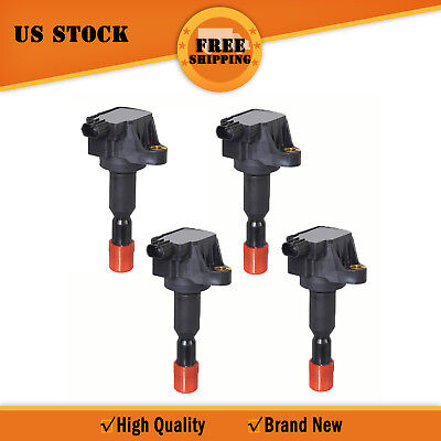 IC091 For 07-08 30520PWC003 UF581 Honda Fit L4 1.5L Set Ignition Coil B2871*4