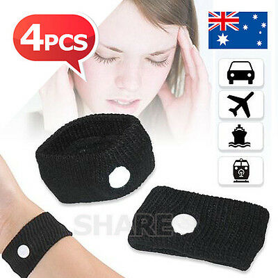 4X For Anti Nausea Wristbands Travel Motion Sea Plane Car Sea Sickness Bands AU