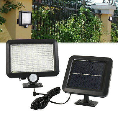 Solar Powered PIR Motion Sensor Outdoor Garden Light Security Flood Lamp 56 LED
