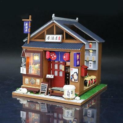Wooden Doll House Japanese-Style Izakaya DIY  Pretend Play Dollhouse Furniture