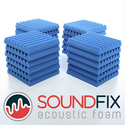 24 BlueWedge Acoustic Foam Panel Tiles - 50mm thick 300mm Studio Sound Treatment