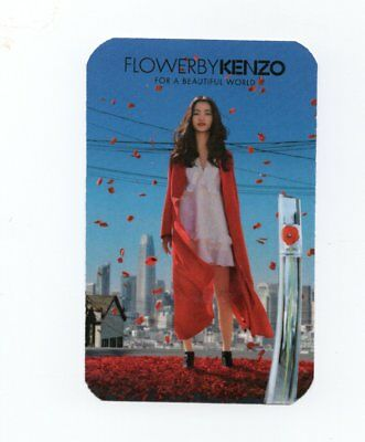Carte publicitaire - advertising card - Flowerbykenzo de Kenzo (recto verso)