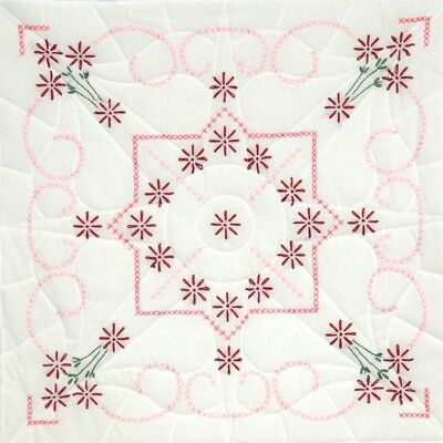 "Fairway Stamped Quilt Blocks 18""x18"" 6/pkg-lazy Daisy"