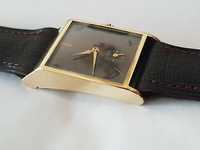Gents Vintage 14ct Gold New Old Stock Cyma Tavannes Cal.030 15j Mechanical Watch