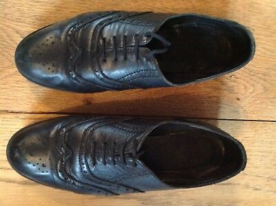 cb9df88ca32a9 Schuh Black Leather Brogues Size 4 Girls School Shoes Used