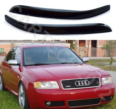 Fits Audi A6 C5 Headlight  Eyebrows Eyelids ABS PLASTIC, tuning