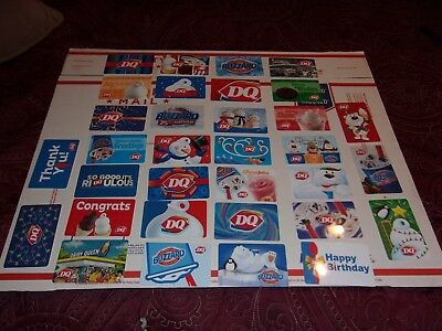 Dairy Queen Gift Cards Collection 33 Total!!!!! No Cash Value!!!!