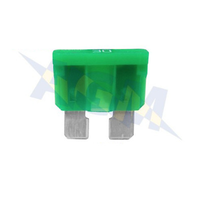 Durite 0-375-30 Standard Automotive Blade Fuse - 30A Green - Pack of 10