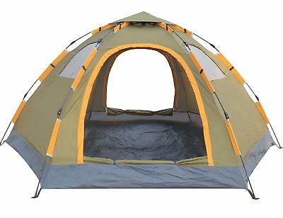 Pop up Camping Tent Portable 6 Person Family Tent Waterproof Double Doors
