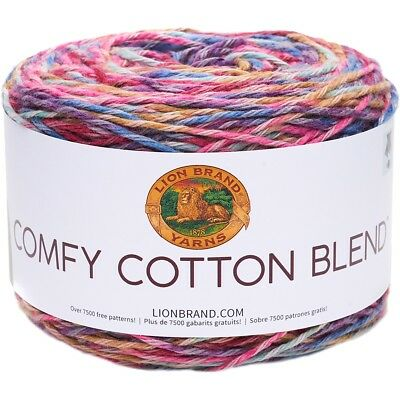 Lion Brand Comfy Cotton Blend Yarn-flower Garden
