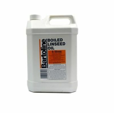 5Ltr Boiled Linseed Oil Bartoline Wood Treatment Internal And External Sealer 5L