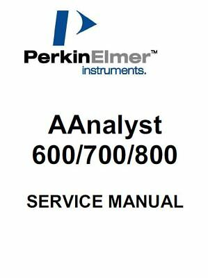 Perkin Elmer    AAnalyst  600, 700, 800     Service Manual And Support Files