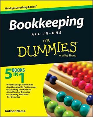 Bookkeeping All-in-One For Dummies by Consumer Dummies, NEW Book, (Paperback) FR
