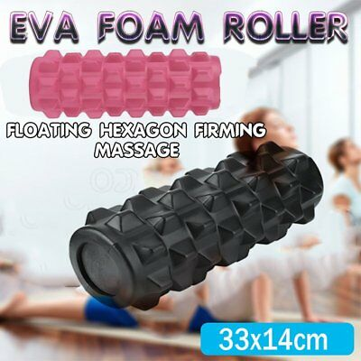 EVA Grid Foam Roller 33x14cm Physio Pilates Yoga Gym Massage Trigger Point U3