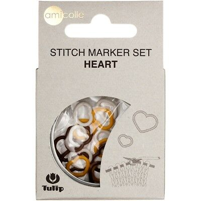Tulip Stitch Markers 15/pkg-yellow-small/white-medium/brown-large