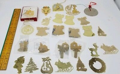 Lot of 27 Vintage Old World Cut Brass Ornaments some Readers Digest Bristol