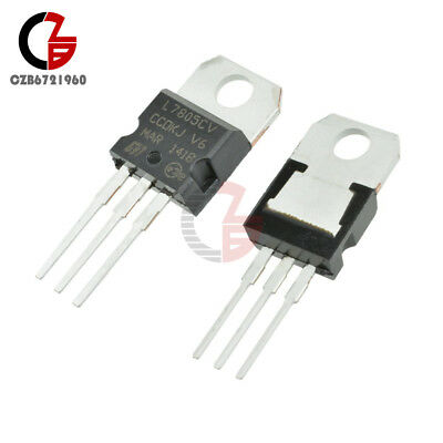 50pcs lm7805 l7805 7805 to 220 voltage regulator ic new a1o4 $4 935 10 20 50 100pcs lm7805 l7805 7805 to 220 ic