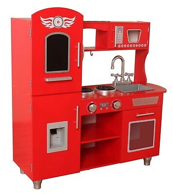Kiddi Style Retro Chefs XLarge Childrens Kids Pretend Play Toy Wooden Kitchen