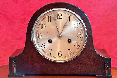 Vintage Art Deco German 8-Day Striking Mantel Clock