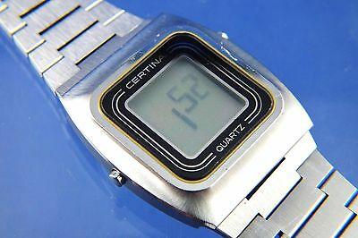 Vintage Retro Certina Quartz LCD Digital Watch Circa 1970s ESA 934831 Very Rare
