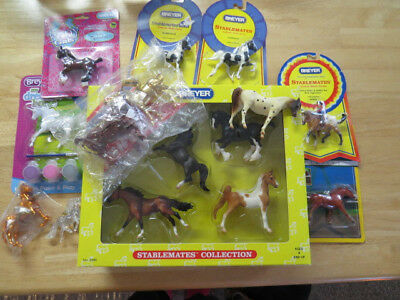 Breyer Horse stablemate lot, With keychains,Justify and Gotz (see Descriptions)