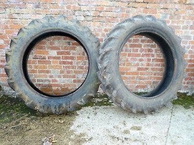 Fordson Major Rear Tyres used -one old other more modern
