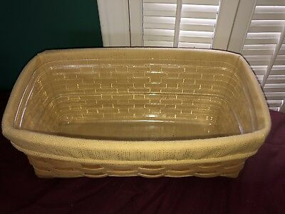 Large Longaberger Basket 2004 With Liner And Protector. Yellow and Classic