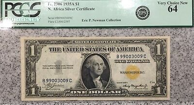 PCGS Currency Very Choice New Uncirculated 64 1935 North Africa $1 Note UNC