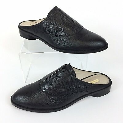17e544d81cb louise et cie Black Pebbled Leather Freyda Oxford Mules Flats US 9M EUR 39  EUC