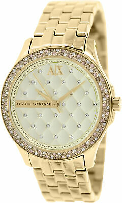 Armani Exchange Women's AX5216 Gold Stainless-Steel Plated Japanese Quartz Dr...