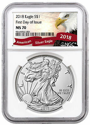 2018 1 oz. American Silver Eagle NGC MS70 FDI Exclusive Eagle Label SKU55933