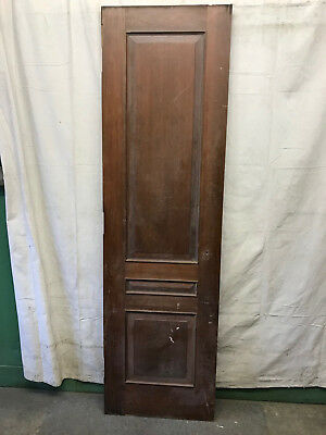 Wood 2 Panel Reclaimed Salvaged Door Architectural Vintage 24x83