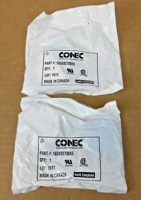 Lot Of 2 Nib Conec 165X02709Xe Connector Hood (4 Lots Avail)