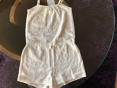 Girls Mint Green Lace Playsuit Age 6-8