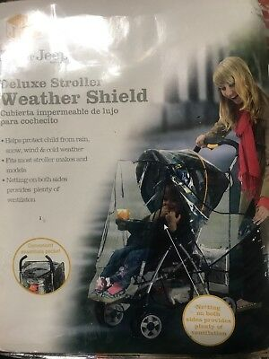 Jeep Deluxe Stroller Weather Shield, Baby Rain Cover, Universal Size, Waterpr...