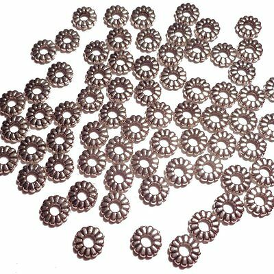 680 -Silver Tone-Tiny Petal-shaped-Beads Caps Findings Jewelry Making-5mm