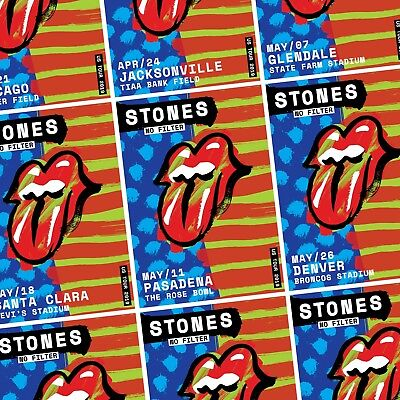 ROLLING STONES No Filter 2019 U.S. Stadium Tour PHOTO Print POSTER Each City LA
