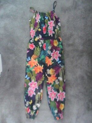 Girls tropical print Blue Zoo jumpsuit - age 10 years