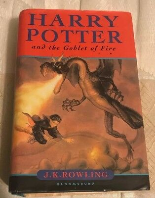 Harry Potter and The Goblet Of Fire 1st Edition, First Print HB with Dust Jacket