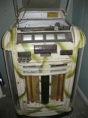 VINTAGE 1939 Seeburg Jukebox  VOGUE Plays 78's  Original Camouflage Paint