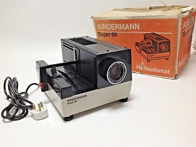 KINDERMANN SUPER 66 SLIDE PROJECTOR SEMI AUTOMATIC FOR 6cm x 6cm SLIDES WORKING+