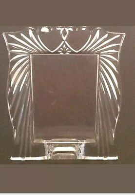 """Marquis by Waterford Crystal Photo Frame Double Heart 3.5 x 5"""" Photo"""