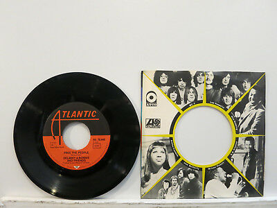 """Delaney & Bonnie and Friends - Free the People / Soul Shake 7"""" 1970 ATL UK NMint"""