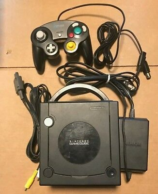 Nintendo GameCube Console Jet Black Console System Tested