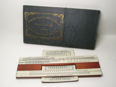 1919 Gallagher Crompton Boiler Plant Efficiency Calculator Slide Rule for spares
