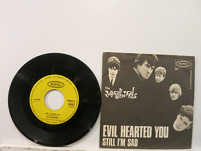 """The Yardbirds - Evil hearted you / Still I'm sad 7"""" 1965 Epic German PicCover NM"""