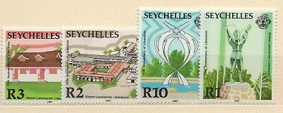 Seychelles - 1987 - 10trh anniversary of the Liberation - Set of 4 stamps. MNH