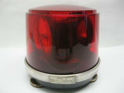 Vintage Federal Signal Red Rotating Beacon Light Model 14
