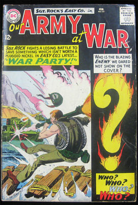 Our Army at War #151 DC Comics 1965 1st Appearance Enemy Ace Sgt Rock - BRIGHT!