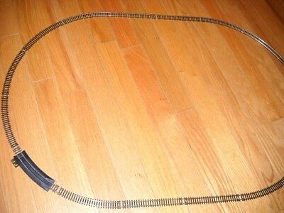"""MODEL POWER """"N"""" SCALE SET OF OVAL TRAIN TRACK ABOUT 30""""x20"""" WITH TERMINAL RERAIL"""